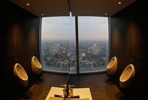Shard view: Toilets on the 69th floor at the Shard