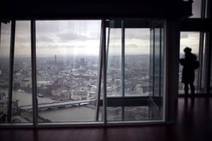 Shard view: A visitor looks out from the Shard viewing platform