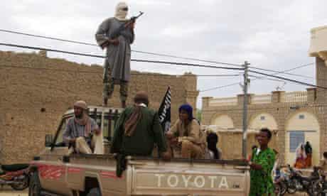 Islamist fighters in Timbuktu