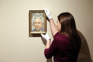 Royal portraits: a portrait by Lucian Freud of Queen Elizabeth II