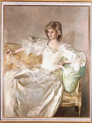 Royal portraits: Princess Diana posing at Kensington Palace by artist John Ward in 1984