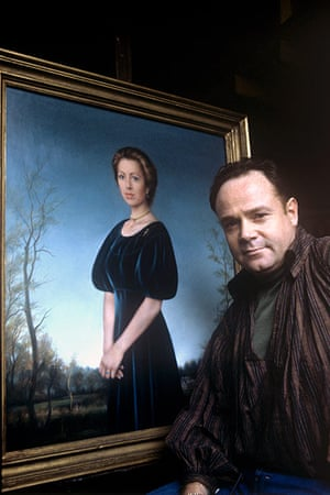 Royal portraits: Lincoln Taber with his portrait of Princess Anne, in 1983