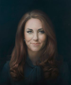 "Kate Middleton portrait: ""HRH The Duchess of Cambridge"" by Paul Emsley"
