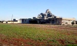 Explosion at Taftanaz airbase, Syria