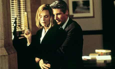 Laura Linney with Richard Gere in Primal Fear.