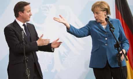David Cameron with Angela Merkel