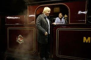 Met locomotive: The Mayor Of London Boris Johnson in the front cab