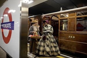 Met locomotive: first class carriages after it arrives at Moorgate station