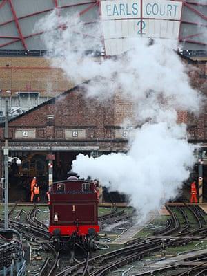 Met locomotive: Metropolitan 1 reverses from its shed near Earl's Court