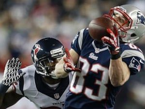"""The """"unathletic"""" Wes Welker has provided some of the highlights for the New England Patriots so far during this game. (AP Photo/Elise Amendola)"""