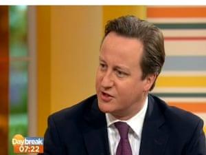 David Cameron on ITV's Daybreak this morning.