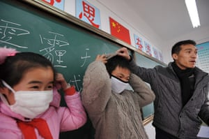 Air Pollution in China: heavy air pollution  in Hefei, China's Anhui Province