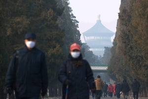 Air Pollution in China: (FOCUS)CHINA-CITIES-LINGERING HEAVY FOG (CN)
