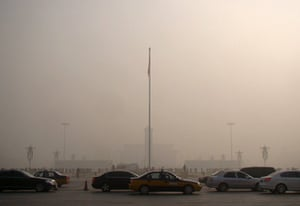 Air Pollution in China: Severe smog and air pollution in Beijing, China - 12 Jan 2013