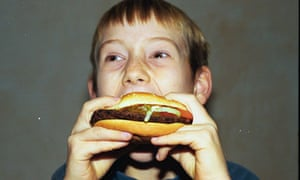 A child eating junk food