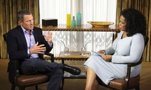 Cyclist Lance Armstrong is interviewed by Oprah Winfrey in Austin, Texas about his use of drugs in sport. Owen Gibson reports on the interview.