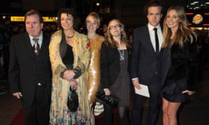 Rafe Spall with his family