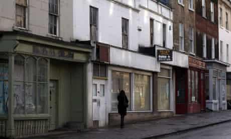 Empty shops in Bath