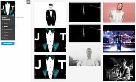 Justin Timberlake Myspace page