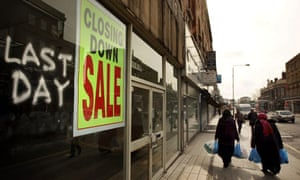 High Street Shops Stand Empty As Recession Bites