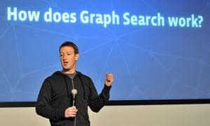 Facebook chief executive Mark Zuckerberg announces the limited beta release of Graph Search