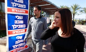 Labour leader Shelly Yachimovich on the campaign trail in Sderot on 15 January 2013.