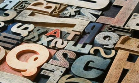 Old Victorian printing letters