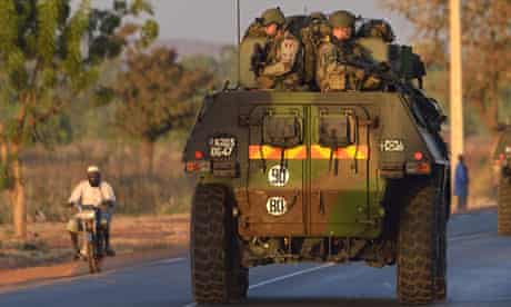 French army soldiers in Mali