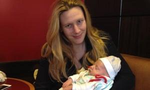 Vanessa Ten Hoedt and her four week old son Matthew