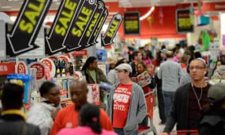 Holiday shoppers in Atlanta