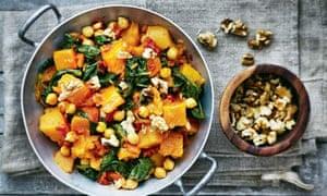 Chickpea, pumpkin, spinach and walnut estofado