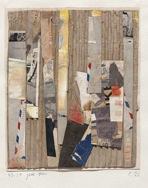 Kurt Schwitters at Tate: 47.15 pine trees c 26, 1946 and 1947