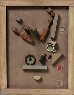 Kurt Schwitters at Tate: Merz Picture 46 A, The Skittle Picture, 1921, Sprengel Museum Hannover