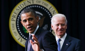 President Obama unveils a series of proposals to counter gun violence as Vice President Joe Biden looks on.