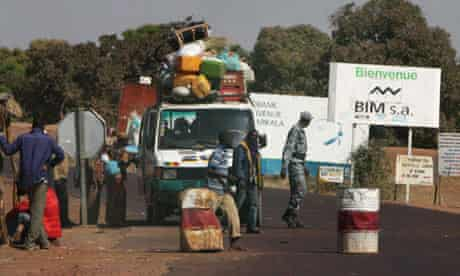 Bus at checkpoint Mali