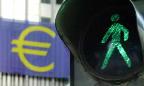 Green light for the Euro in Germany's financial stronghold of Frankfurt