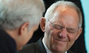 German finance minister Wolfgang Schäuble earlier this week.