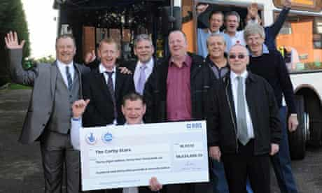 lottery winning Corby bus drivers