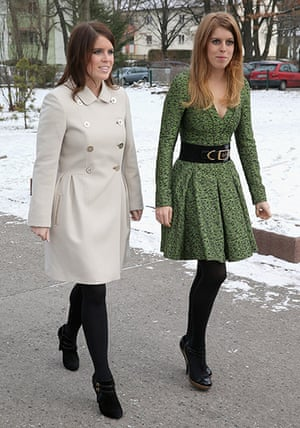 Berlin visit: Princess Beatrice and Princess Eugenie of York arrive at the British School