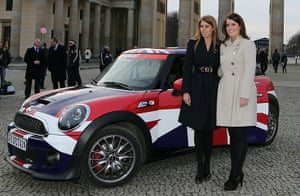 Berlin visit: The Princesses during the launch of the Great Britain Mini tour