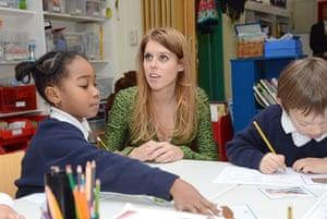 Berlin visit: Princess Beatrice with pupils at the Berlin British school