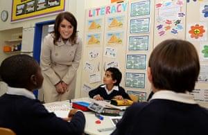 Berlin visit: Princess Eugenie of York speaks to pupils at the British School