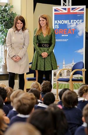 Berlin visit: Princess Eugenie and Princess Beatrice visit the Berlin British School