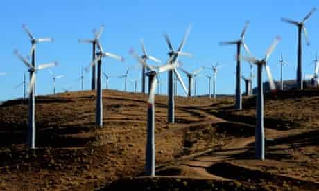 Tehachapi wind farms California