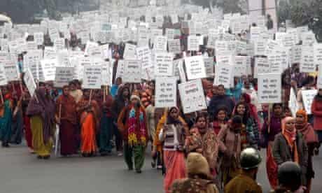 India women's march, New Delhi, 2 January 2013