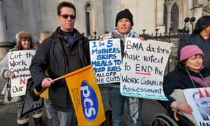 Disability benefit protesters