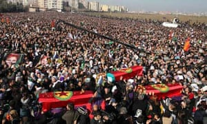 Funeral ceremony for murdered Kurdish activists