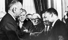 Lyndon Johnson and Martin Luther King