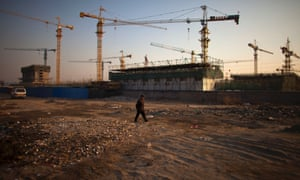 A construction site in Beijing, China. China's economy rebounded in the final quarter of 2012.