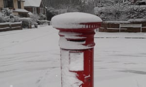 Snow in Southampton, January 18 2013